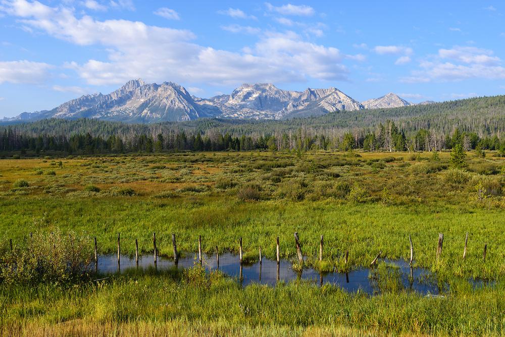 Sawtooth Valley and mountains, Idaho.