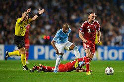 Bayern Midfielder Franck Ribery (FRA) breaks during the second half of the match - Photo mandatory by-line: Rogan Thomson/JMP - Tel: Mobile: 07966 386802 - 02/10/2013 - SPORT - FOOTBALL - Etihad Stadium, Manchester - Manchester City v Bayern Munich - UEFA Champions League Group D.