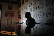 Simone Di Stefano during a conference at Casapound headquarters.<br /> Rome, 19 december 2013. Christian Mantuano / OneShot