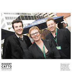 Oliver Driver;Jonathan King;Philippa Campbell at the Toronto International Film Festival 2006 at the Shotover Bar, Yorkville, Toronto, Ontario, Canada.