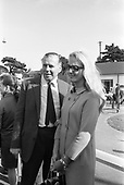 1968 - Film producer Kevin McClory and his wife Frederica Ann Sigrist at Goffs