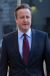 © Licensed to London News Pictures. 05/05/2016. LONDON, UK.  Prime Minister, DAVID CAMERON arriving to cast an election vote in the London elections to elect a the new Mayor of London and London Assembly members at Westminster Methodist Central Hall this morning.  Photo credit: Vickie Flores/LNP
