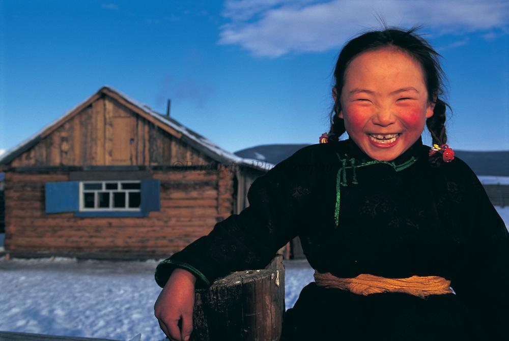Darkhad child<br /> Darkhad Depression<br /> Northern Mongolia<br /> Winter