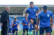 Israel players warming up during the UEFA European Under 17 Championship 2018 match between England and Israel at Proact Stadium, Whittington Moor, United Kingdom on 4 May 2018. Picture by Mick Haynes.