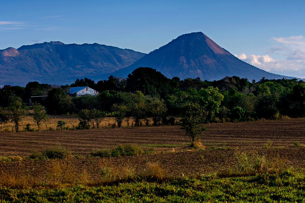 El Casita Volcano dominates the countryside in northwestern Nicaragua, and is part of the San Cristobal volcanic mountain chain.