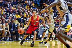 Dec 1, 2018; Morgantown, WV, USA; Youngstown State Penguins guard Darius Quisenberry (3) drives to the basket during the first half against the West Virginia Mountaineers at WVU Coliseum. Mandatory Credit: Ben Queen-USA TODAY Sports
