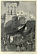 The Shoe Bazaar, Cairo Wood engraving of from 'Picturesque Palestine, Sinai and Egypt' by Wilson, Charles William, Sir, 1836-1905; Lane-Poole, Stanley, 1854-1931 Volume 4. Published in 1884 by J. S. Virtue and Co, London