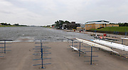 Nottingham, GREAT BRITAIN,  General View, Waves breaking at end of the course, at the 2008 National Schools Regatta, ,  at Holme Pierrepont, Nottingham, ENGLAND,  on Sunday 25/05/2008  [Mandatory Credit:  Peter Spurrier/Intersport Images]