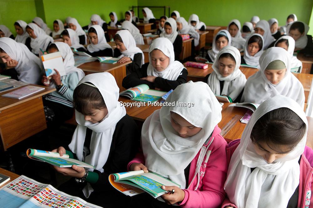 Girl school in Kabul, Afghanistan