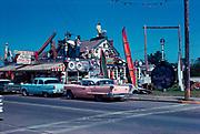 CS1132-04. Marsh's, Long Beach, Washington. graffiti dates the photo to 1962. October 1962 process date.