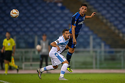September 20, 2018 - Rome, Lazio, Italy - 20th September 2018, Stadio Olimpico, Rome, Italy; UEFA Europa League football, Lazio versus Apollon Limassol; Riza Durmisi of Lazio challeges Andre Schembri of Apollon Limassol  Credit: Giampiero Sposito/Pacific Press (Credit Image: © Giampiero Sposito/Pacific Press via ZUMA Wire)
