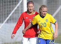 Fotball<br /> La Manga 201<br /> 28.02.2012<br /> Landskamp U23<br /> Norge v Sverige / Norway v Sweden 0:3<br /> Foto: Morten Olsen, Digitalsport<br /> <br /> Mia Jalkerud - Sverige<br /> Caroline Walde - Norge