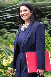 Downing Street, London, May 10th 2016. Employment Minister Priti Patel arrives at the weekly cabinet meeting in Downing Street.