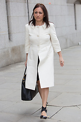 © Licensed to London News Pictures. 17/03/2014. London, UK. Cheryl Carter arrives at The Old Bailey in London this morning, 17th March 2014 for the Phone Hacking Trial. Photo credit : Vickie Flores/LNP