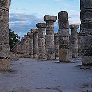 Warriors corridor..Chichen Itza, Yucatan..Mexico.