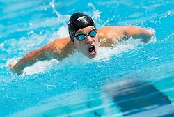 David Mihalic of PK Olimpija Ljubljana competes in 400m Medley during Slovenian Swimming National Championship 2014, on August 2, 2014 in Ravne na Koroskem, Slovenia. Photo by Vid Ponikvar / Sportida.com