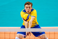 Edvin Svard of Sweden in action during the CEV Eurovolley 2021 Qualifiers between Sweden and Croatia at Topsporthall Omnisport on May 15, 2021 in Apeldoorn, Netherlands