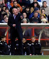 Photo: Jed Wee.<br />Nottingham Forest v Chesterfield. Coca Cola League 1.<br />31/12/2005.<br />Forest manager Gary Megson tries to urge his players on.
