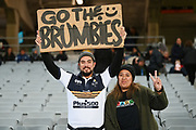 Brumbies fans arrive for the match.<br /> Blues v Brumbies, Sky Super Rugby Trans-Tasman. Eden Park, Auckland. New Zealand. Saturday 29 May 2021. © Copyright Photo: Andrew Cornaga / www.photosport.nz