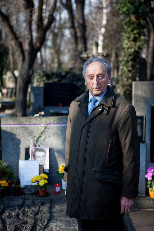 """Jakub Trojan - who was the former dean of the Protestant Theological Faculty of Charles University in Prague - at the grave of Jan Palach. Trojan was the priest who buried student Jan Palach in 1969 who committed self-immolation as a political protest against the end of the Prague Spring resulting from the 1968 invasion of Czechoslovakia by the Warsaw Pact armies. """"In this cynical century in which we are often scared by others and others are scared by us, in a century in which we are often startled at our own small-mindedness, he made us ask a question that can make great people of us: What did I do for others, what is my heart like, what is my aim, and what is the highest priority in my life?""""<br /> <br /> Speech of Pastor Jakub S. Trojan at Jan Palach's grave, 25 January 1969"""