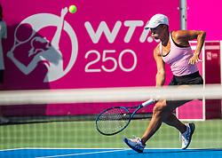 PORTOROZ, SLOVENIA - SEPTEMBER 18: Yulia Putintseva of Kazahstan during the Semifinals of WTA 250 Zavarovalnica Sava Portoroz at SRC Marina, on September 18, 2021 in Portoroz / Portorose, Slovenia. Photo by Nik Moder / Sportida