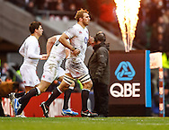 Picture by Andrew Tobin/SLIK images +44 7710 761829. 2nd December 2012. Chris Robshaw leads out the England team for the 2nd half during the QBE Internationals match between England and the New Zealand All Blacks at Twickenham Stadium, London, England. England won the game 38-21.