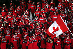 Members of the Canadian team during the Opening Ceremony of the PyeongChang 2018 Winter Olympic Games at the PyeongChang Olympic Stadium in South Korea.