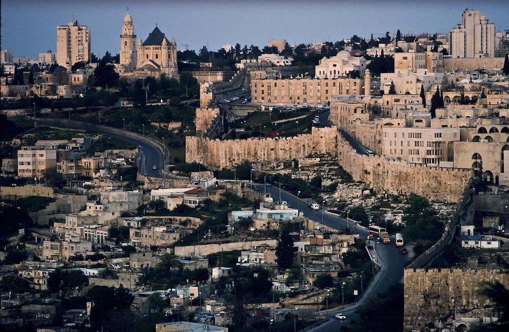 Scene of Jerusalem, where three religions meet.