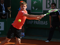 April 19, 2018 - Monaco, Monte Carlo, Monaco - Tennis - ATP- Monaco - Monte Carlo, Monte  Carlo country club, Rolex Monte - Carlo Masters 2018, 19 avril 2018..Le Belge David Goffin  (Credit Image: © Panoramic via ZUMA Press)