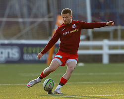 Will Hooley of Saracens  - Mandatory by-line: Nick Browning/JMP - 26/02/2021 - RUGBY - Butts Park Arena - Coventry, England - Coventry Rugby v Saracens - Friendly