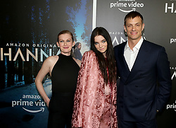 Mireille Enos, Esme Creed-Miles & Joel Kinnaman attending the 'Hanna' New York Premiere held at The Whitby Hotel