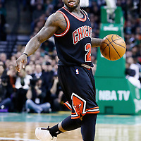 18 January 2013: Chicago Bulls point guard Nate Robinson (2) is seen during the Chicago Bulls 100-99 overtime victory  over the Boston Celtics at the TD Garden, Boston, Massachusetts, USA.