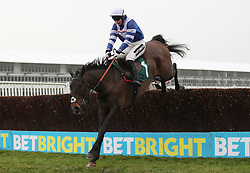 Frodon ridden by Bryony Frost on their way to victory in the BetBright Trial Cotswold Chase during Festival Trials Day at Cheltenham Racecourse.