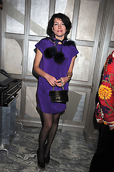 THOMASINA MIERS at a party for Yves Saint Laurent's Creative Director Stefano Pilati given by Colin McDowell held at The Connaught Bar, The Connaught, Mount Street, London on 29th October 2008.