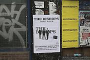 Posters for music events London 2007, England. The Bishops debut album. secretsundaze