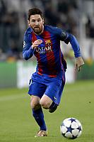 Lionel Messi Barcelona <br /> Torino 11-04-2017 Juventus Stadium Football Calcio Champions League 2016/2017 Juventus - Barcelona Round of 8. Foto Filippo Alfero Insidefoto