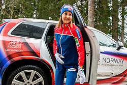 February 22, 2019 - Seefeld In Tirol, AUSTRIA - 190222 Ingvild Flugstad ¯stberg of Norway arrives at a press event during the FIS Nordic World Ski Championships on February 22, 2019 in Seefeld in Tirol..Photo: Vegard Wivestad GrÂ¿tt / BILDBYRN / kod VG / 170287 (Credit Image: © Vegard Wivestad Gr¯Tt/Bildbyran via ZUMA Press)