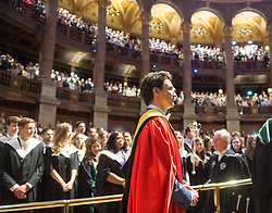 Prime Minister Justin Trudeau takes part in the convocation ceremony where he also received a honorary degree at the University of Edinburgh Wednesday, July 5, 2017 in Edinburgh.Photo by Ryan Remiorz/The Canadian Press/ABACAPRESS.COM
