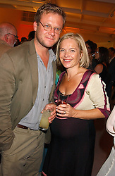 TV presenter MARIELLA FROSTRUP and her husband JASON McCUE  at a party to celebrate the publication of 'Shalimar The Clown' by Salman Rushdie, held at the David Gill Galleries, 3 Loughborough Street, London SE11 on 7th September 2005.<br /><br />NON EXCLUSIVE - WORLD RIGHTS