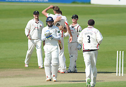 Tom Bailey of Lancashire celebrates with team mates after bowling out Geraint Jones of Gloucestershire for 88 - Photo mandatory by-line: Dougie Allward/JMP - Mobile: 07966 386802 - 08/06/2015 - SPORT - Football - Bristol - County Ground - Gloucestershire Cricket v Lancashire Cricket Day 2 - LV= County Championship