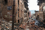 Homes in the ancient city of Bhaktapur were baldy damaged by the 2015 Nepal earthquake.