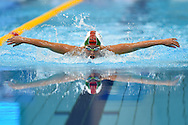 Lillian Szilagyi of Hungary on her way to a Silver Medal in the 200m Butterfly on day 14 of the 33rd  LEN European Aquatics Championship Swimming Finals 2016 at the London Aquatics Centre, London, United Kingdom on 22nd May 2016. Photo by Martin Cole.