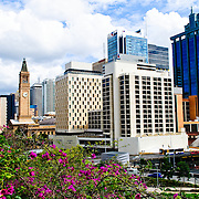 Skyline of Brisbane city buildings