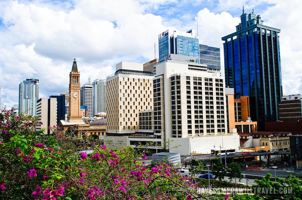 Skyline of Brisbane city buildings