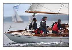 The final day of racing of the Fife Regatta on the King's Course North of Great Cumbrae<br /> <br /> Ellad, Didier Griffiths, FRA, Bermudan Sloop, Fairlie Yacht Services 1957<br /> <br /> * The William Fife designed Yachts return to the birthplace of these historic yachts, the Scotland's pre-eminent yacht designer and builder for the 4th Fife Regatta on the Clyde 28th June–5th July 2013<br /> <br /> More information is available on the website: www.fiferegatta.com