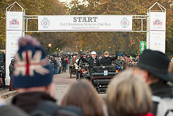 EDITORIAL USE ONLY Participants set off at the start of the Bonhams London to Brighton Veteran Car Run in London.