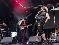 Warmduscher live at the Bigfoot Festival Ragley Hall Warwickshire one of the first festivals to open successfully in 2021