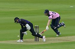 Geraint Jones of Gloucestershire fails to run out Adam Voges of Middlesex  - Photo mandatory by-line: Dougie Allward/JMP - Mobile: 07966 386802 - 15/05/2015 - SPORT - Cricket - Bristol - Bristol County Ground - Gloucestershire County Cricket v Middlesex County Cricket - NatWest T20 Blast