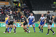 Hull FC loose forward Ligi Sao (13) in action  during the Betfred Super League match between Hull FC and St Helens RFC at Kingston Communications Stadium, Hull, United Kingdom on 16 February 2020.