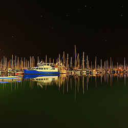It was a very still night at Manly Marina. This image is available in colour and Black and White